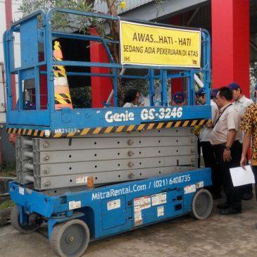 Pelakasanaan Pelatihan K3 Scissor lift PT HM Sampoerna 19 Juli 2017