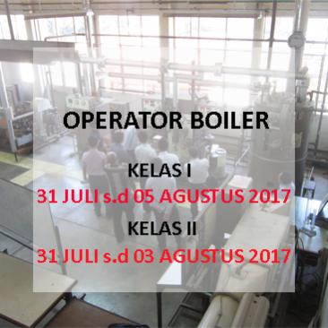 Operator Boiler Kelas I dan Kelas II