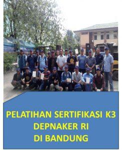 Pelatihan sertifikasi k3 depnaker RI di bandung