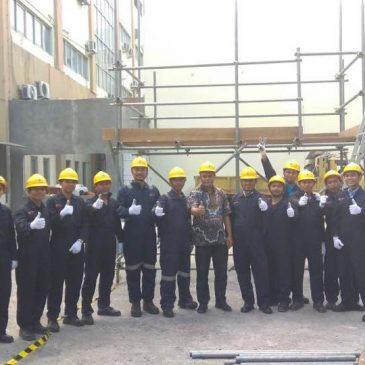 Pelaksanaan Pelatihan K3 Supervisi Perancah Publik, 13 s.d 17 November 2017