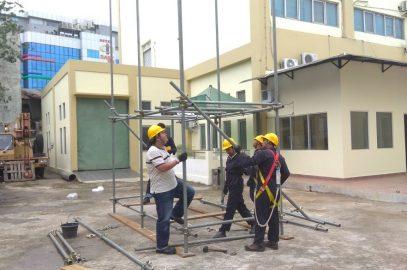 Pelaksanaan Pelatihan K3 Supervisi Perancah Publik, 15 s.d 19 Januari 2018