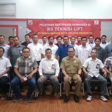 Pelaksanaan Pelatihan K3 Teknis Lift Inhouse Telkom Property, 19 s.d 24 Maret 2018