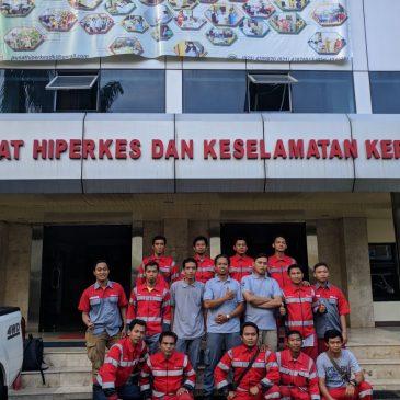 Pelaksanaan Pelatihan  K3 Tenaga Kerja Pada Ketinggian Tingkat 1 Publik, 04 s.d 06 April 2018
