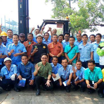 Pelaksanaan Pelatihan K3 Operator Forklift Inhouse PT Pindo Deli Pulp & Paper, 02 s.d 04 Mei 2018