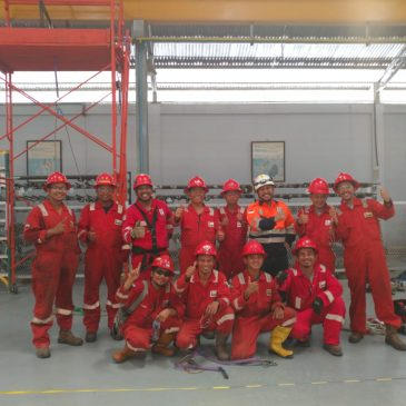 Pelaksanaan Pelatihan Tenaga Kerja Bangunan Tinggi Tingkat 2 Inhouse PT Wheatherford, 15 s.d 16 Mei 2018
