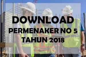 download permenaker no 5 tahun 2018