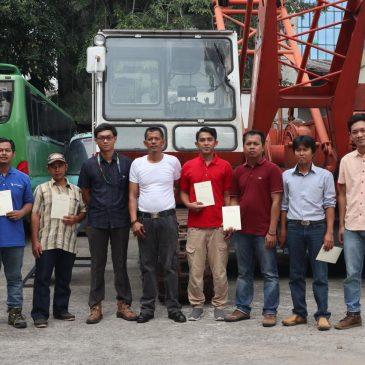 Pelaksanaan Pelatihan K3 Operator Crane Kelas 2. Jakarta, 12 s.d 15 Juni 2019