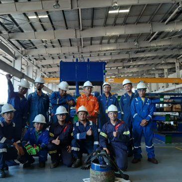 Pelaksanaan Pelatihan K3 Operator Crane Kelas 3. Cikarang, Mei 2019
