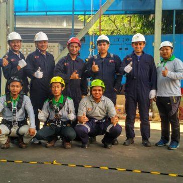 Pelaksanaan Pelatihan  K3 Tenaga Kerja Pada Ketinggian (TKPK) Tingkat 1 Publik. Jakarta, 22-25 Juli 2019