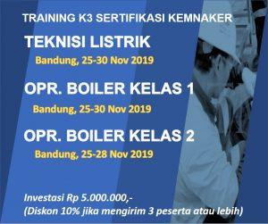 pelatihan k3 teknisi listrik dan operator boiler bandung november 2019-b
